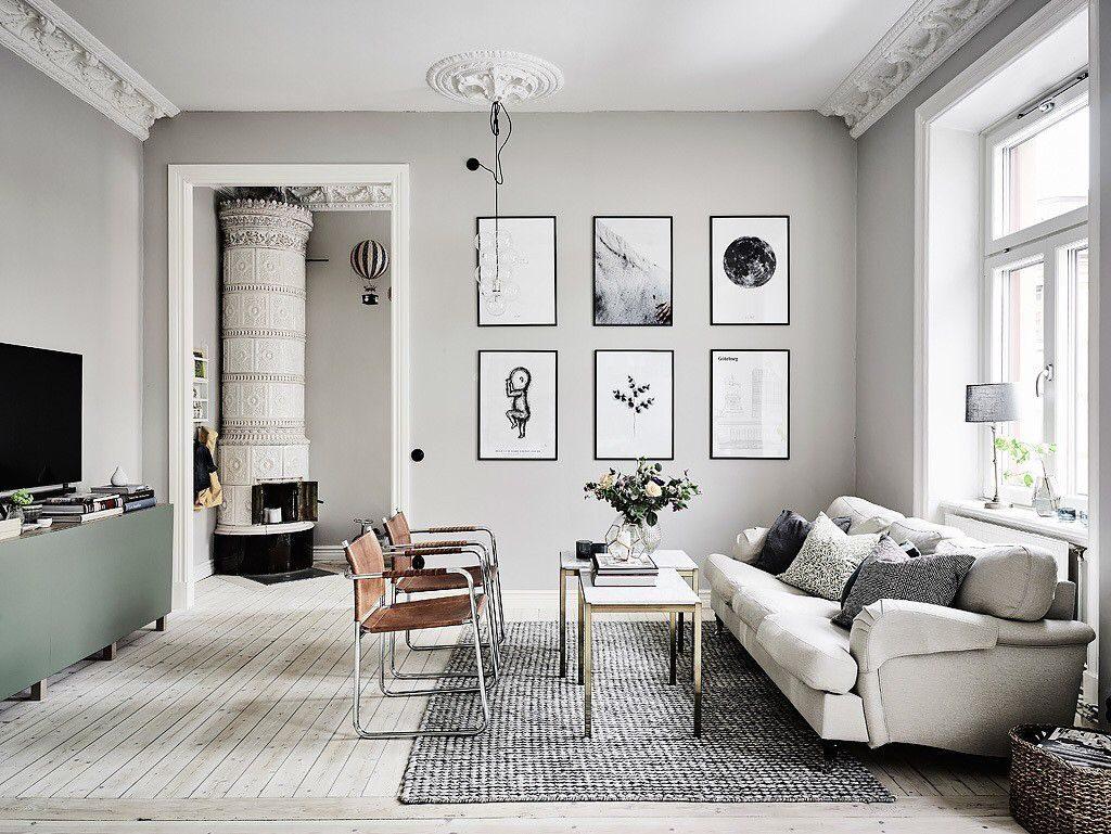 гостиная в доме в современном стиле