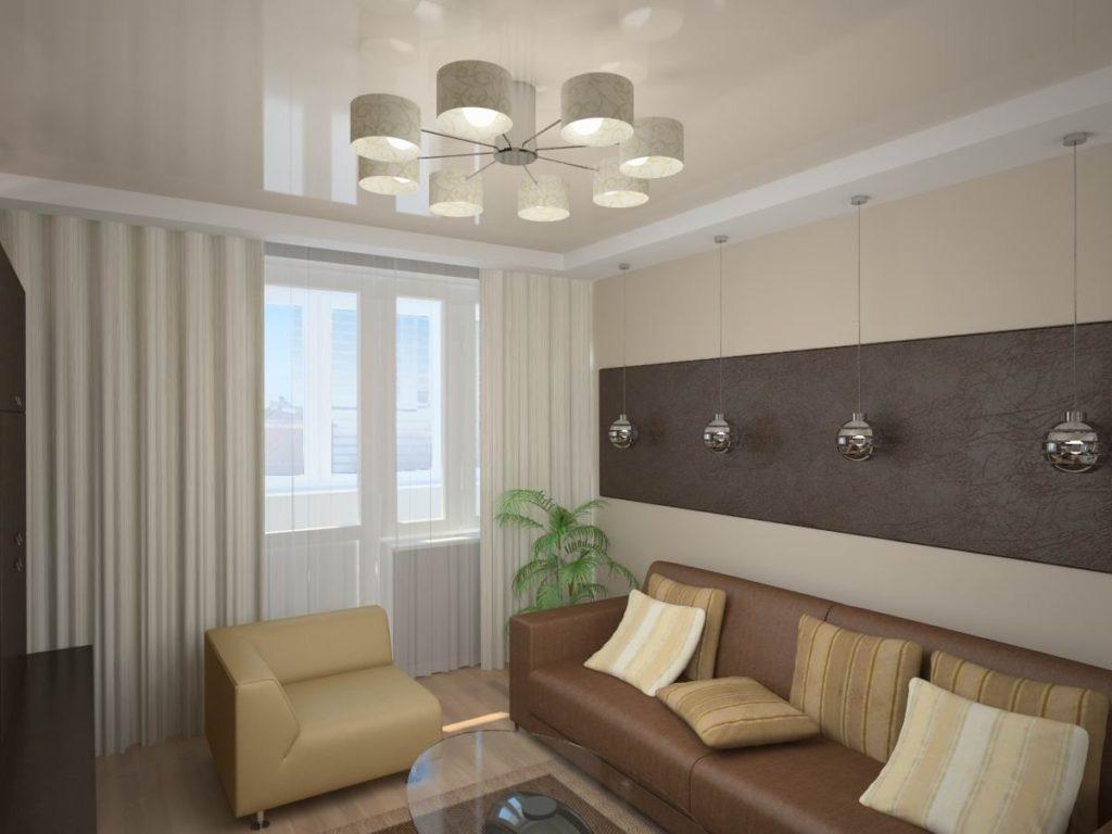 примеры освещения гостиной