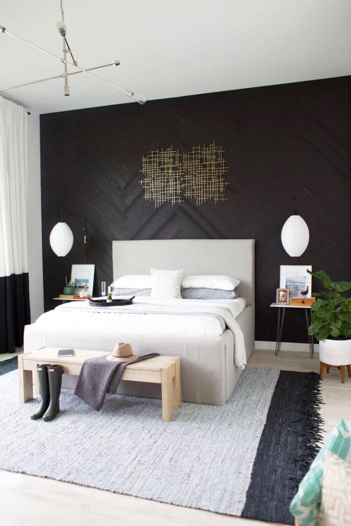 черная комната спальня