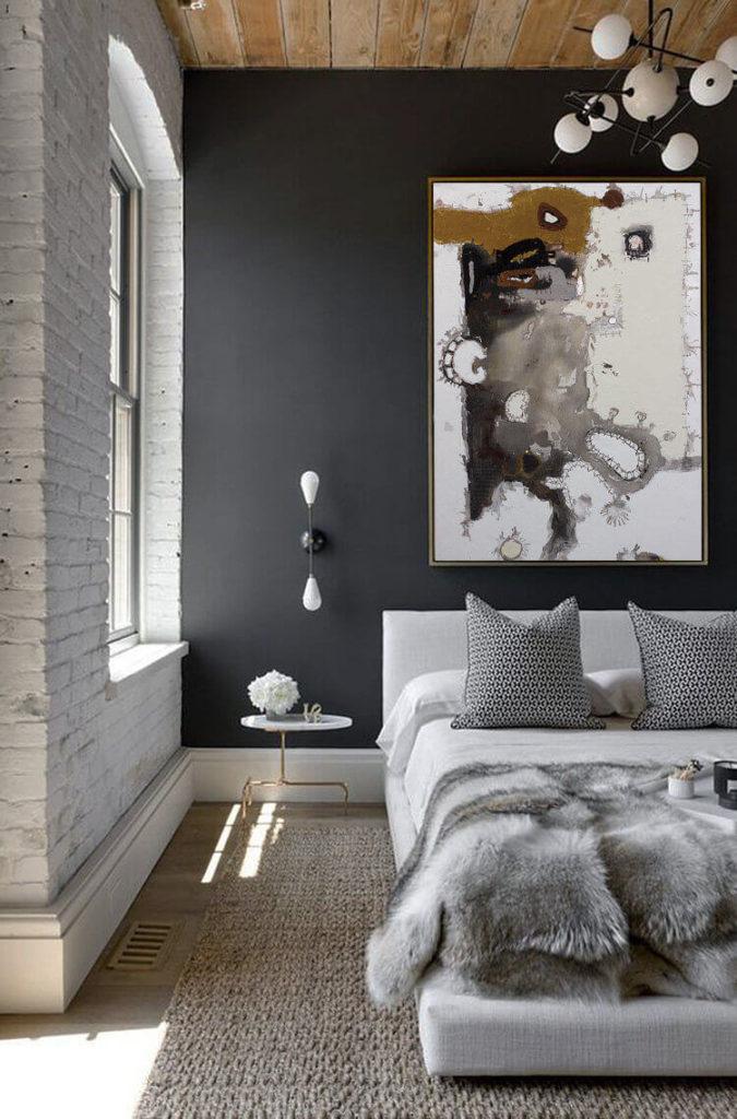 спальня в черном стиле