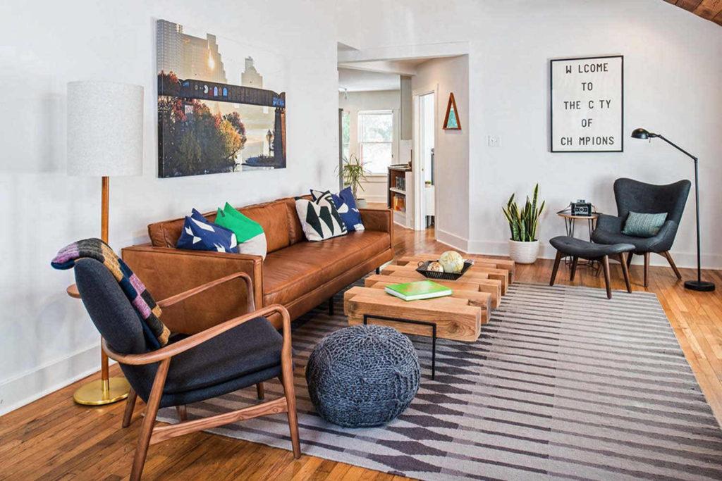 как расставить мебель в прямоугольной комнате