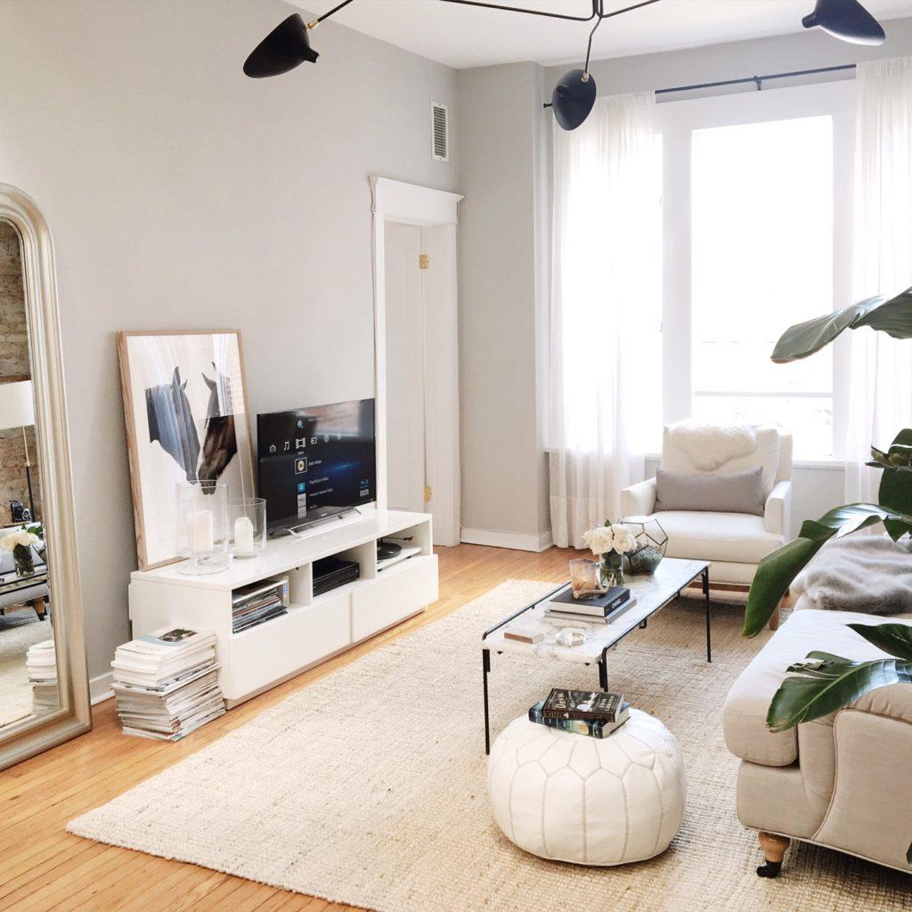 оформление телевизора в гостиной