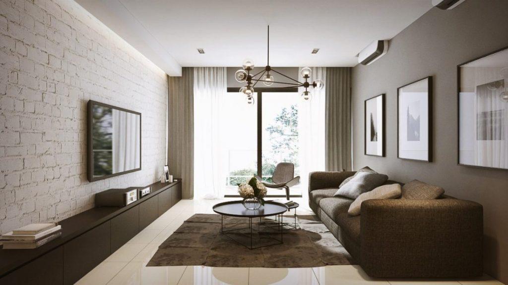 телевизор в современных гостиных фото