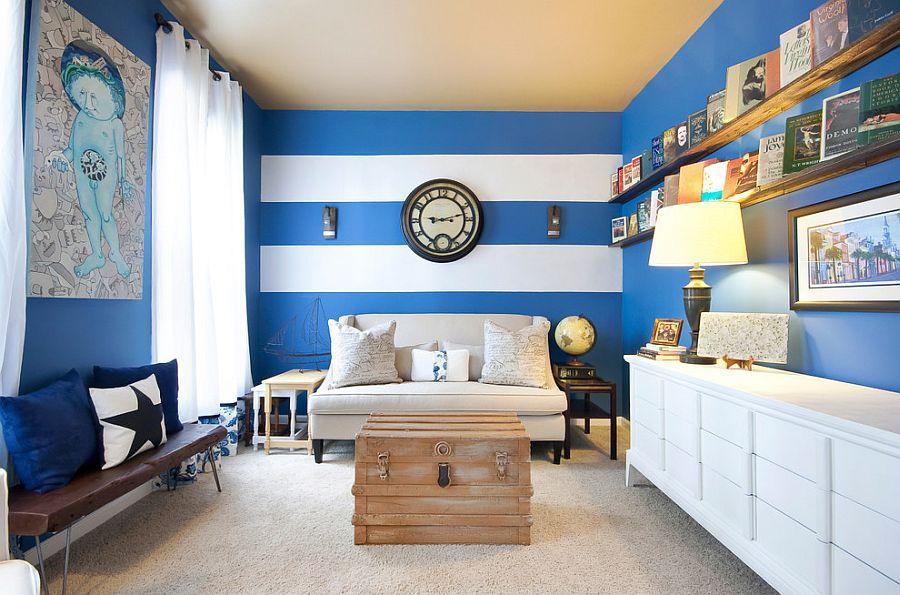 сочетание коричневого цвета в интерьере гостиной