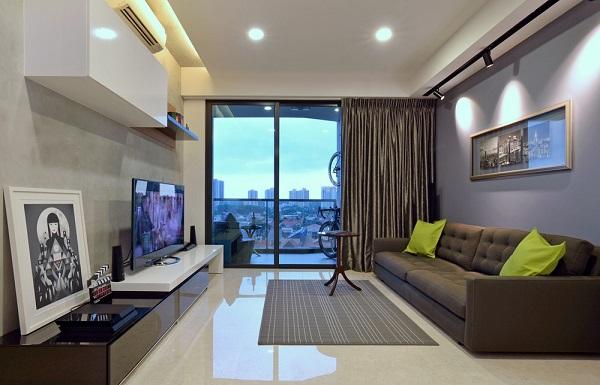 гостиная в простой квартире