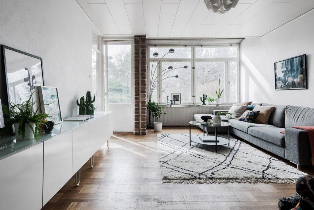 скандинавский интерьер дома