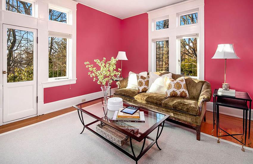 современные цвета гостиной