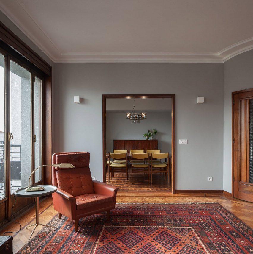 дизайн квартиры ретро стиле