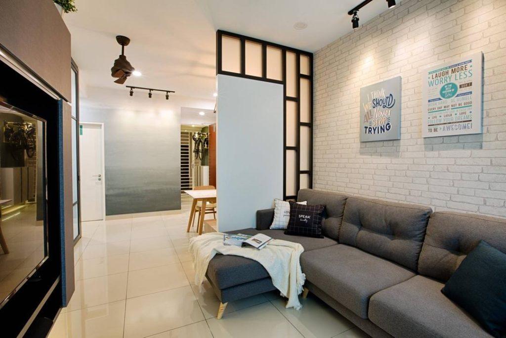 дизайн однокомнатной квартиры с зонированием