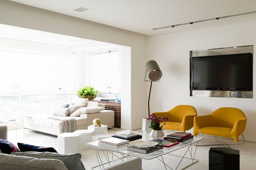 красивые современные гостиные