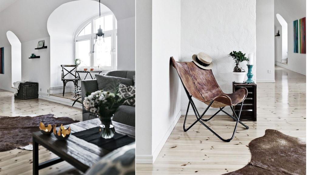 скандинавский интерьер комнат