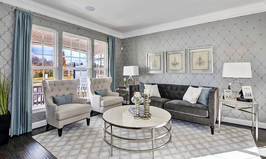 гостиный дизайн серый