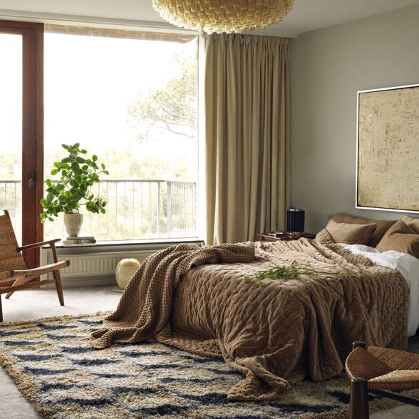 спальня +в бежево коричневых тонах