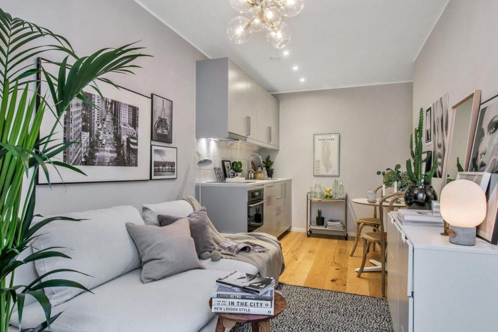 дизайн однокомнатной квартиры 30