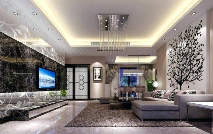 освещение в гостиной с натяжным потолком фото