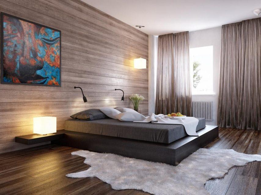 дизайн интерьера спальни минимализм