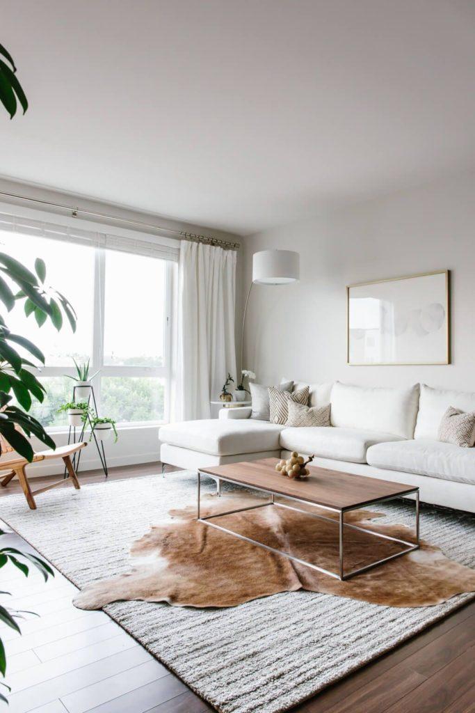 гостиная мебель в стиле минимализм