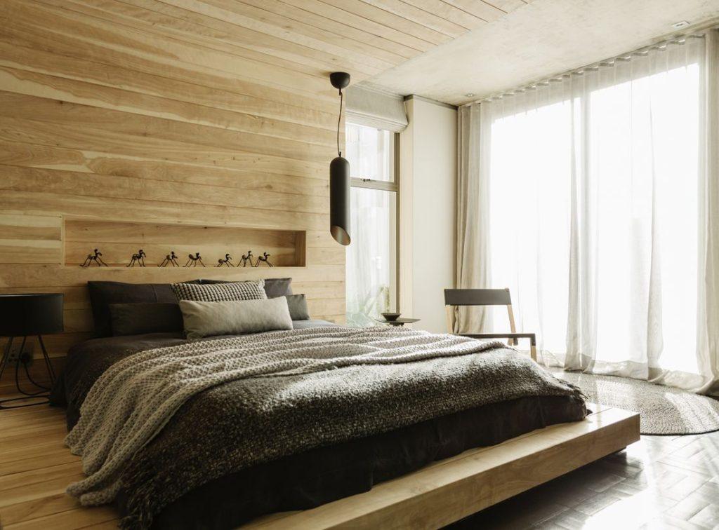 спальня минимализм лофт