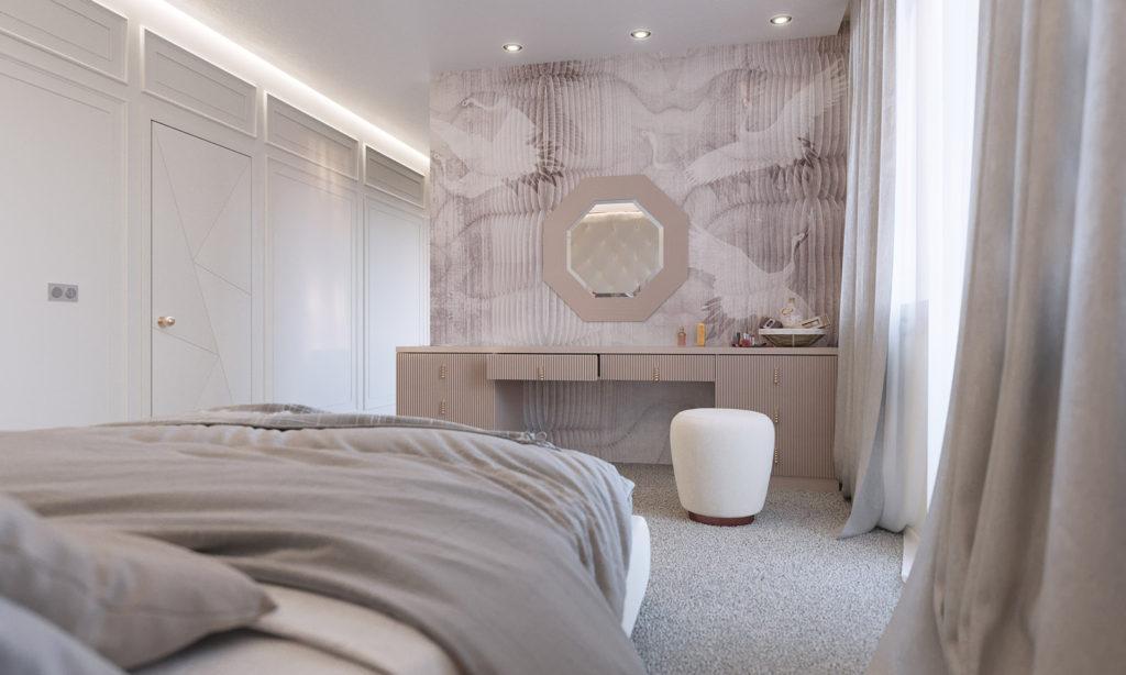 маленькая спальня дизайн минимализм