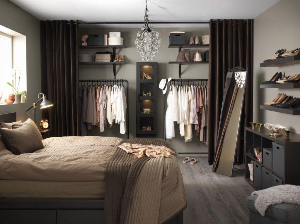 дизайн спальни с гардеробной