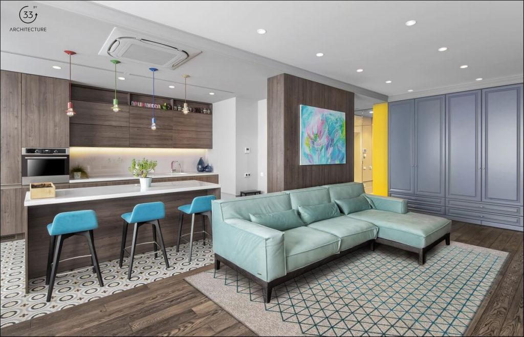 разделить однокомнатную квартиру дизайн