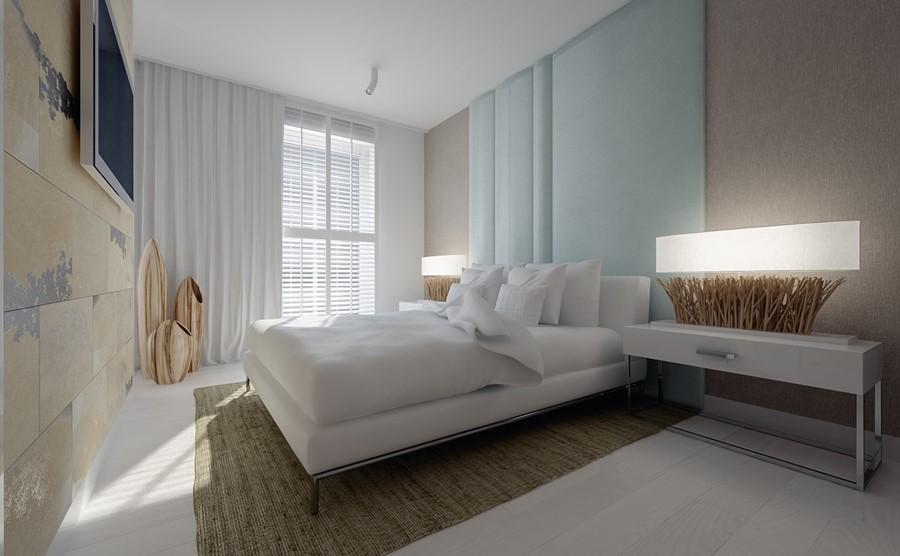 спальня для девушки в стиле минимализм