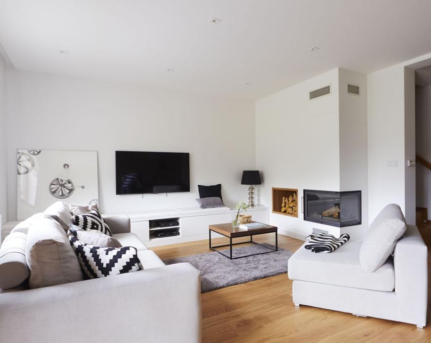 белая гостиная дизайн