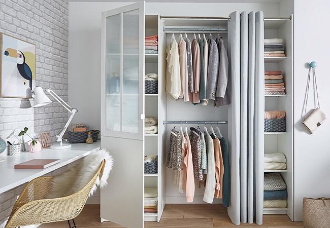 гардеробная комната в спальне