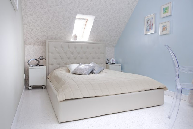 спальня мансарда минимализм