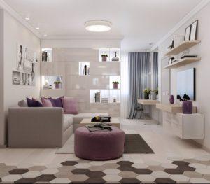 Дизайн: Зонирование комнаты на гостиную и спальную зону