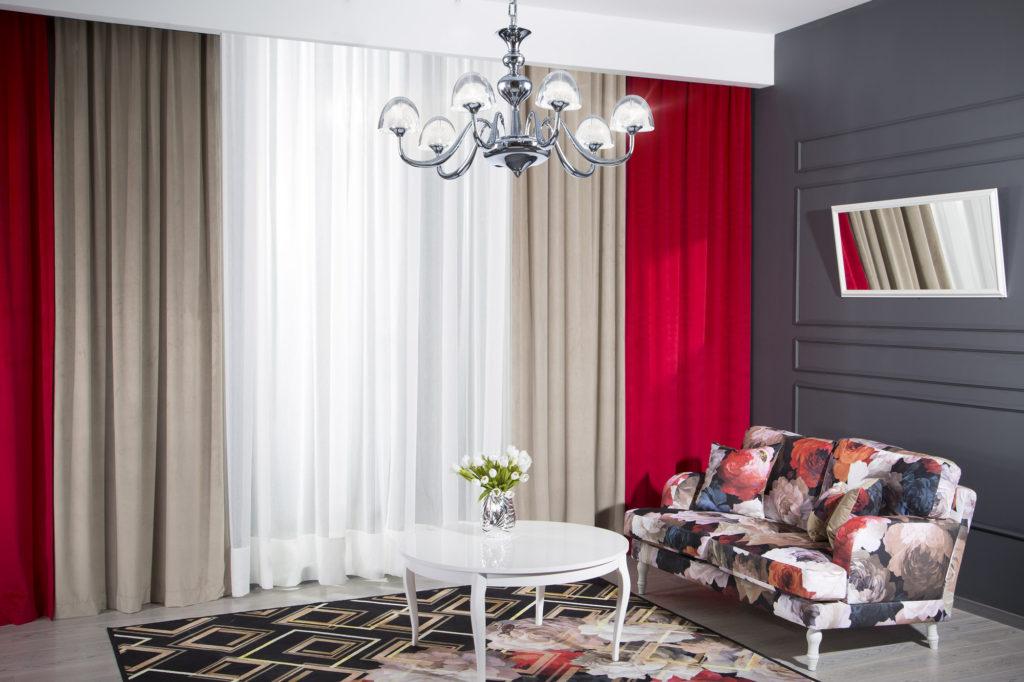 красный интерьер квартиры