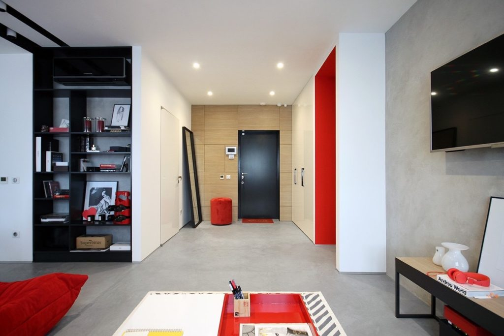красные интерьеры фото