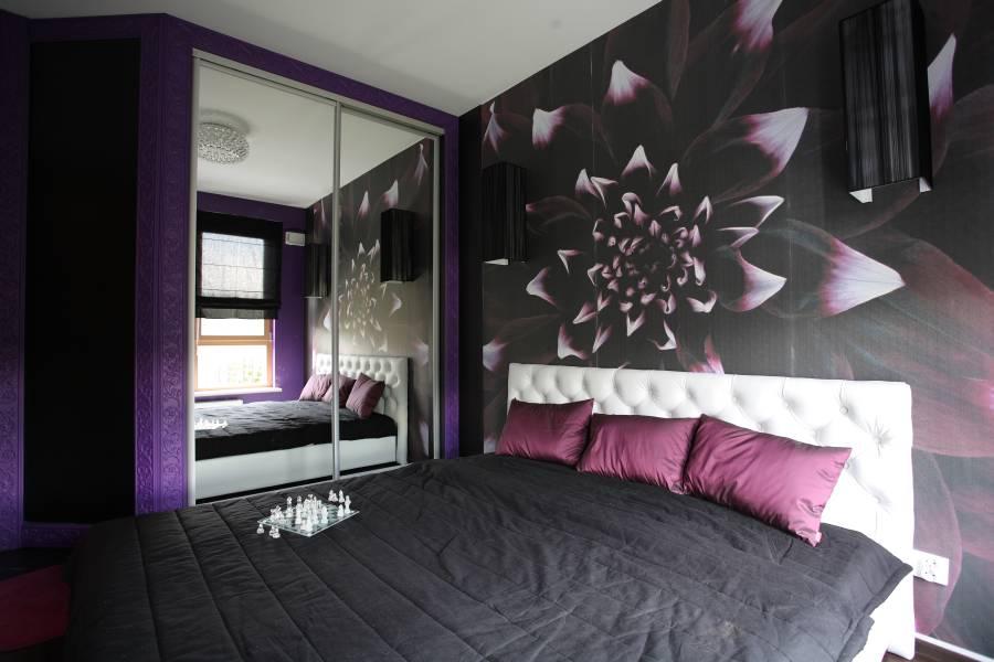 сочетание фиолетового с другими цветами в интерьере