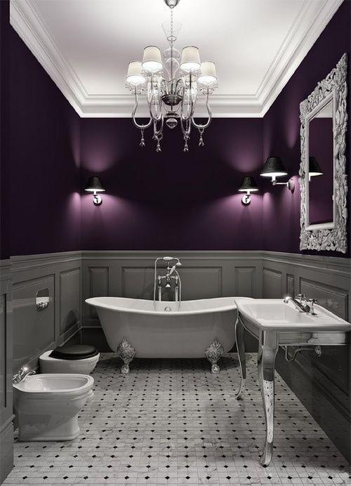 интерьер фиолетовой комнаты