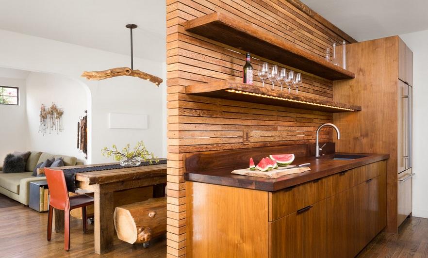 отделка стен дома деревом