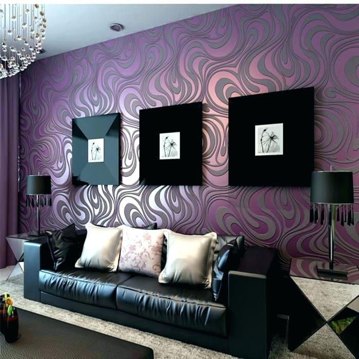 фиолетовый интерьер зала