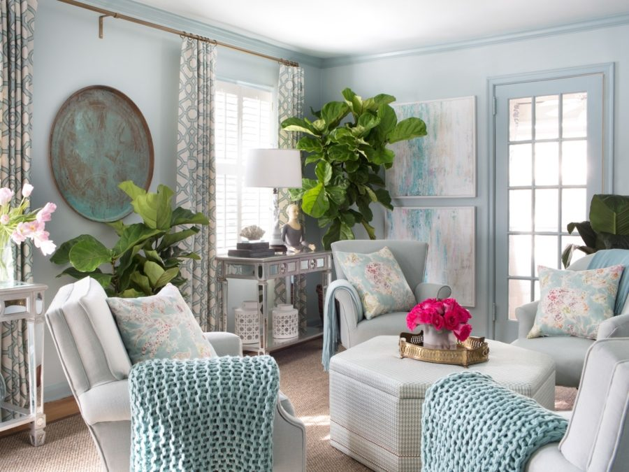 интерьер в мятном цвете квартира
