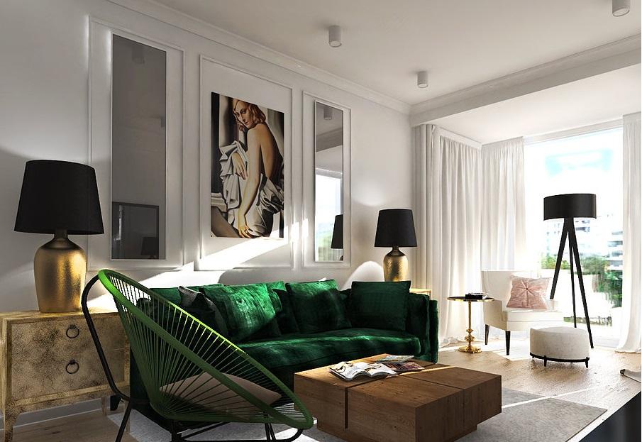 изумрудный дизайн квартиры