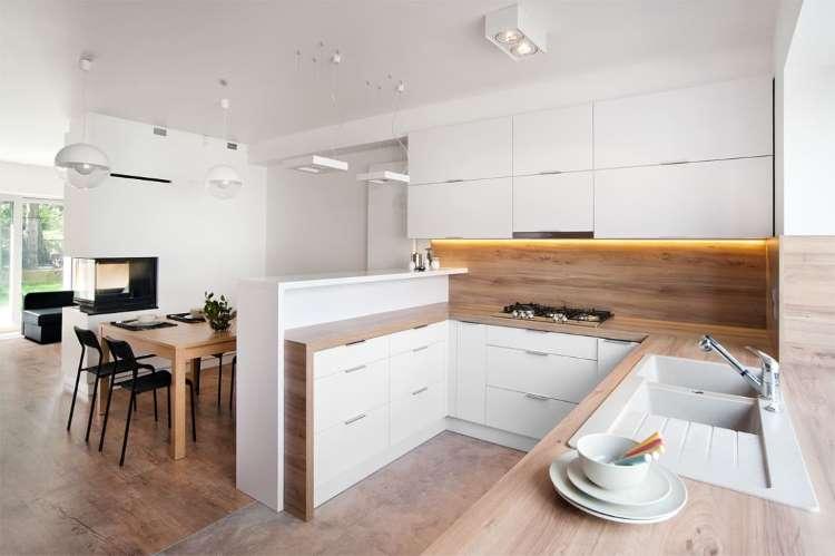 отделка кухни гостиной