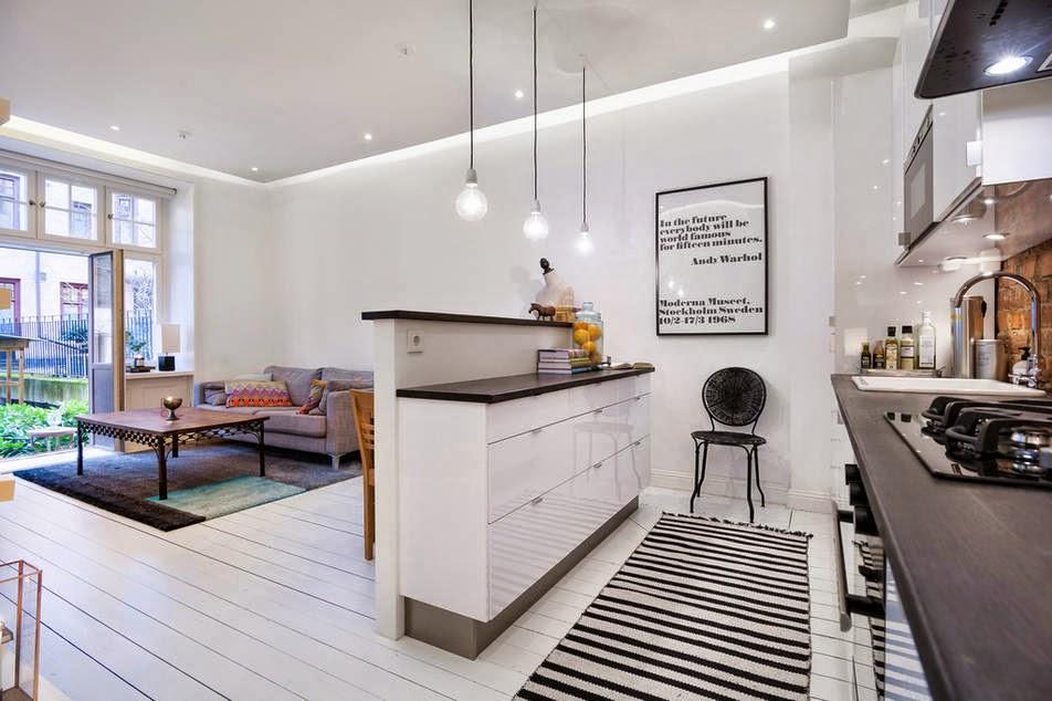 освещение в кухне гостиной