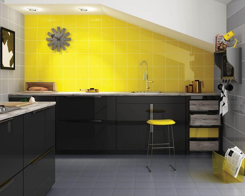с какими цветами сочетается желтый в интерьере