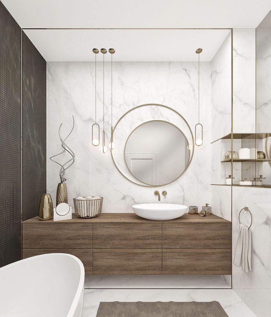 ванная в золотом цвете