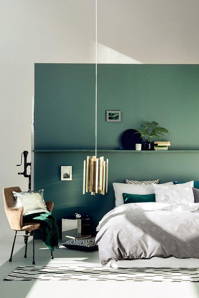 зеленая спальня дизайн