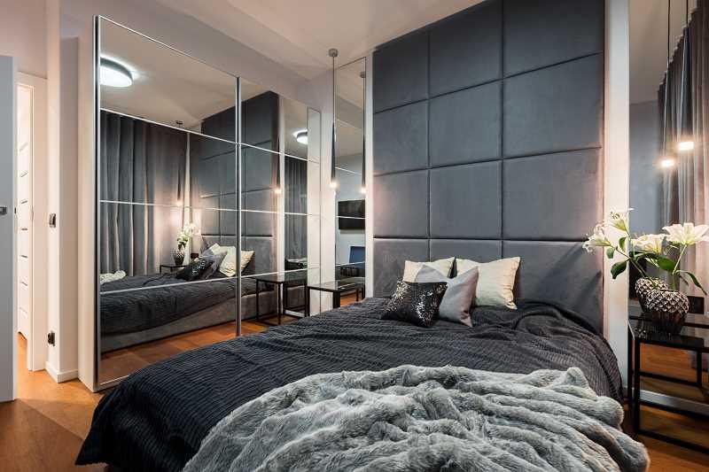 зеленый в интерьере спальни