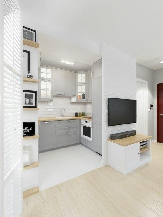 интерьер гостиных кухонь 20 м