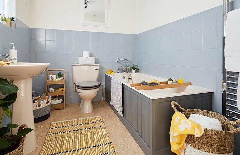 ванная комната плитка и покраска