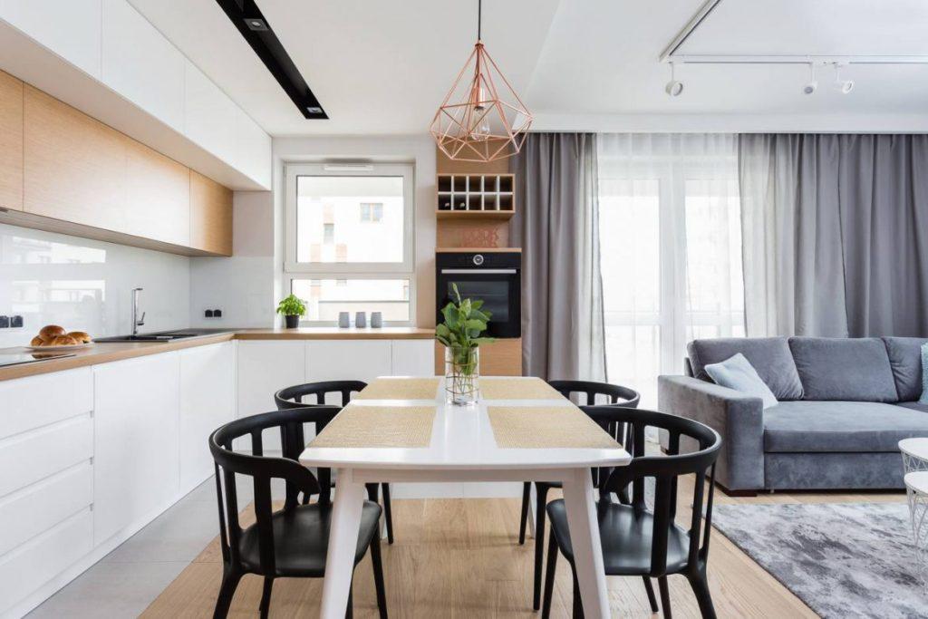 кухня гостиная 12 кв м с диваном