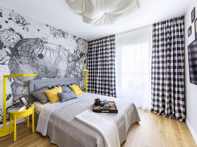 желтый интерьер комнаты