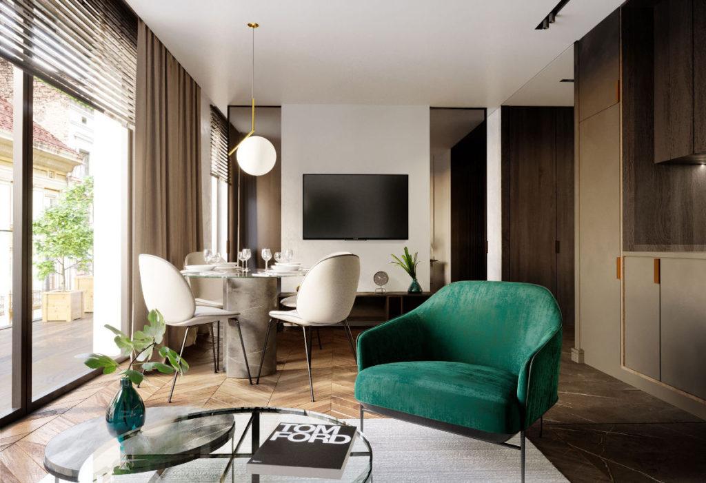стол в гостиный зал