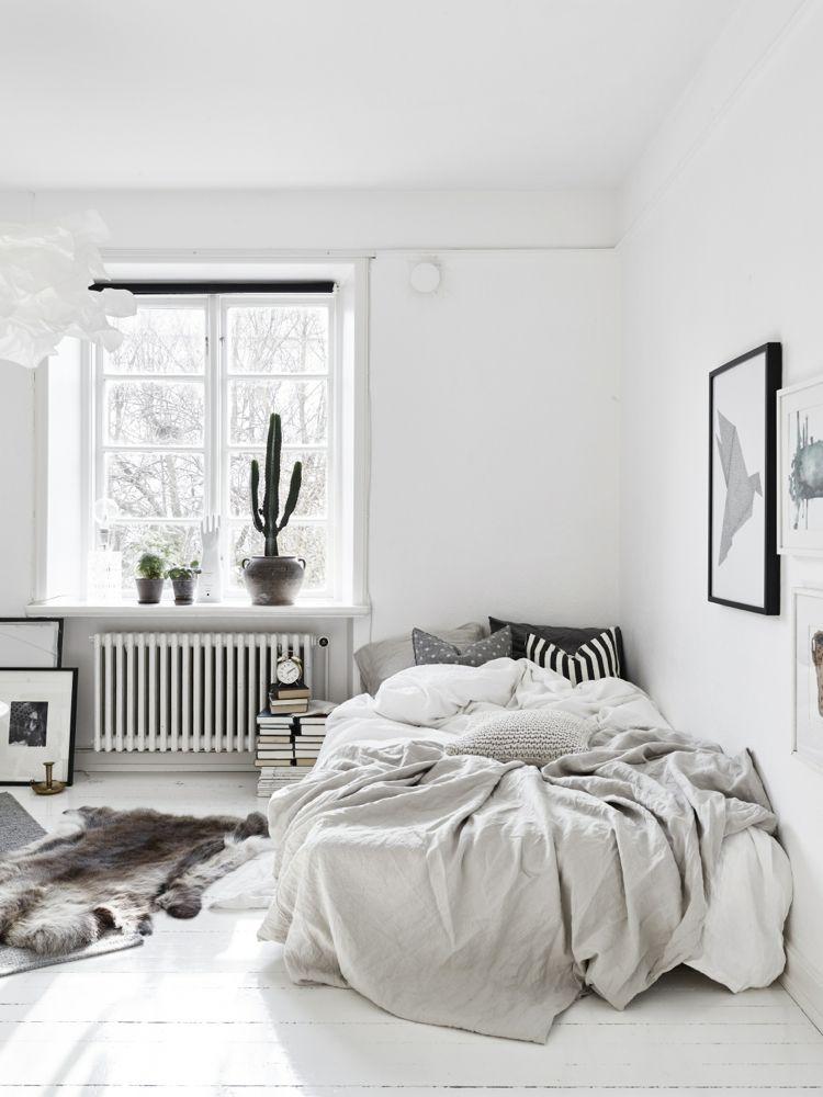 скандинавский интерьер спальни
